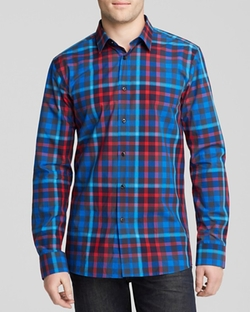 HUGO BOSS - Elisha Plaid Button Down Shirt