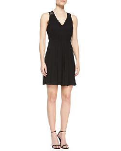 Phoebe by Kay Unger  - Sleeveless Beaded Back Cocktail Dress, Black