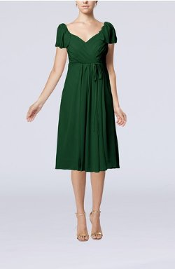 UW Dress - Short Sleeve Chiffon Knee Length Party Dresses
