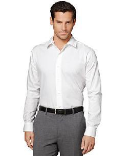 Van Heusen  - Long-Sleeve Satin Striped Shirt