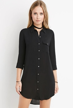 Forever 21 - Curved-Hem Shirt Dress