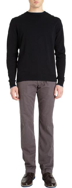 BARNEYS NEW YORK  - Tipped Crewneck Sweater