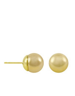 Majorica - Gold Organic Manmade Pearl Stud Earrings