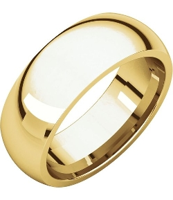 CharmsToTreasure - Gold  Wedding Band Ring