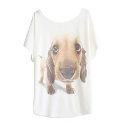 Haogo - Dog Print Short Sleeve Shirt