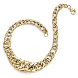 The Black Bow - Italian Graduated Fancy Curb Link Bracelet