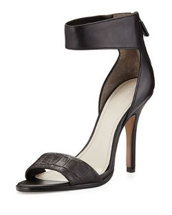 Pour la Victoire  - Yara Leather Ankle-Wrap Pumps