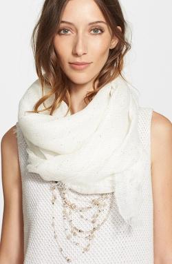 Fabiana Filippi - Embellished Linen Blend Scarf