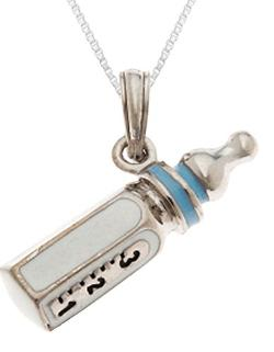 US Jewels And Gems  - Sterling Silver Bottle Pendant Chain Necklace