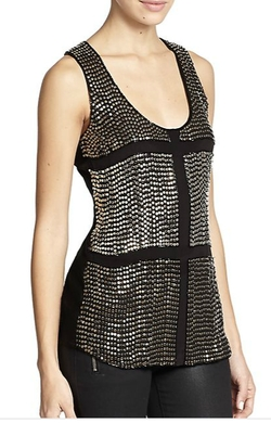 Karina Grimaldi - Lugo Beaded Silk Tank Top