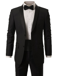 Monday Suit - 2-Piece Suit Blazer Shawl Collar Tuxedo & Trousers