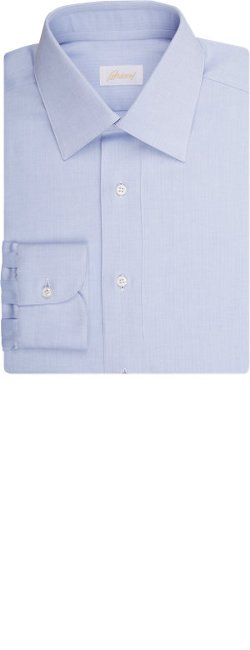 Brioni  - Herringbone-Weave Dress Shirt
