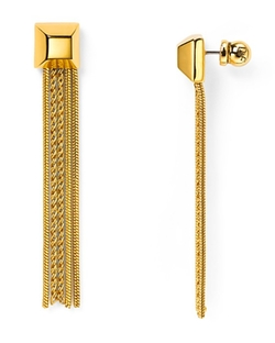Diane Von Furstenberg - Cube Chain Tassel Earrings