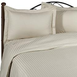 EveryDay Linens - Beige Damask Stripe California King Luxury