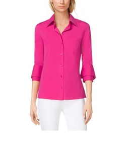 Michael Kors Collection - Double-Cuff Cotton-Poplin Shirt
