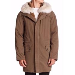 Yves Salomon  - Classic Fur-Trimmed Parka Coat