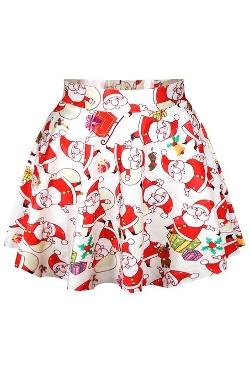 Pink Wind Dress - Printed Mini Pleated Tutu Skirt