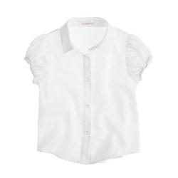 J.Crew - Puff-Sleeve Tissue Oxford Cloth Shirt