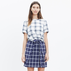 Madewell - Plaid Industry Button-Back Top