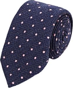 Barneys New York - Dot & Herringbone Jacquard Necktie