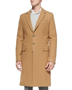 Ami	  - Single-Breasted Wool Overcoat