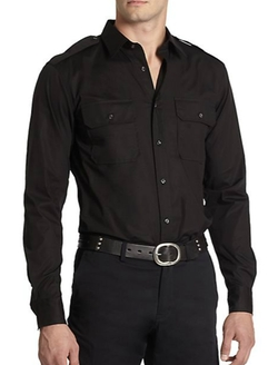 Ralph Lauren Black Label - Rover Stretch Cotton Military Sportshirt