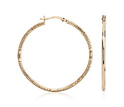 Blue Nile - Large Hoop Earrings in 14k Yellow Gold