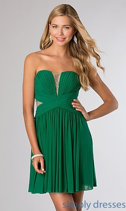 Jovani - Short Strapless Homecoming Dress