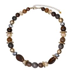 Mixit - Antiqued Gold-Tone Short Necklace