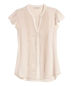 H&M - Butterfly-Sleeve Blouse