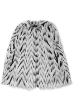 Michael Kors - Herringbone Faux Fur Cape