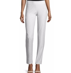Eileen Fisher - Stretch Crepe Slim-Leg Pants