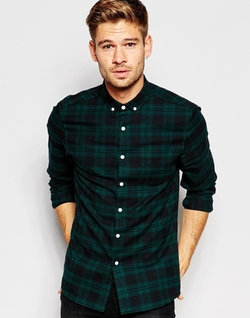 Asos - Long Sleeve Mid Scale Check Shirt