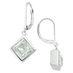 Target - Silver Plated Bezel Crystal Stud Earring