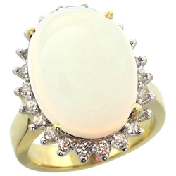 Gabriella Gold - Natural Opal Ring