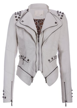 Pretty Attitude - Studded Punk Style PU Faux Leather Jacket