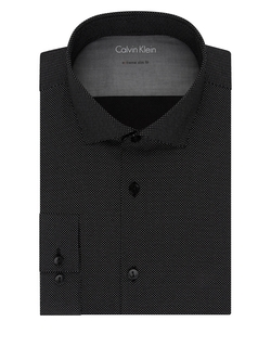 Calvin Klein - Dotted Button-Front Dress Shirt