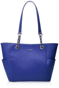 Calvin Klein - Saffiano Leather Chain Tote Bag