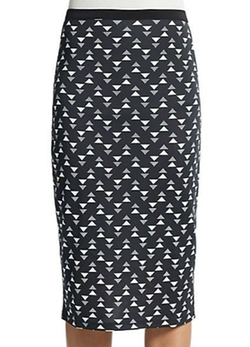 S.H.E Soul Harmony Energy  - Printed Knit Pencil Skirt