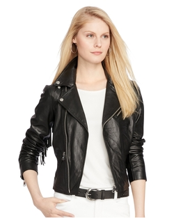 Lauren Ralph Lauren - Fringed Leather Jacket
