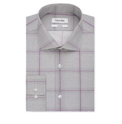 Calvin Klein - Infinite Stretch Fitted Check Dress Shirt