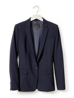Banana Republic - Navy Lightweight Wool Blazer