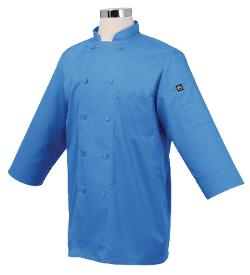 Chef Works  - JLCL-BLU-M Basic 3/4 Sleeve Chef Coat, Blue