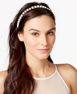 Josette - Rosette & Rhinestone Headband