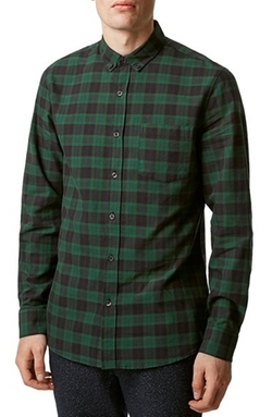 Topman - Plaid Long Sleeve Shirt