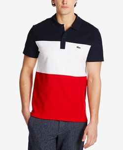 Lacoste - Colorblocked Textured Pique Polo Shirt