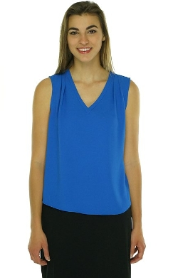 Nine West  - V-Neck Sleeveless Blouse