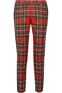 Moschino  - Plaid Wool Tapered Pants