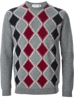 Pringle of Scotland  - Argyle Knit Sweater