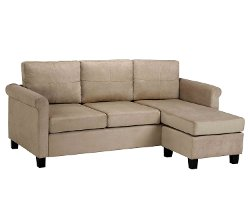 Dorel Asia  - Versatile Small Spaces Sectional Sofa